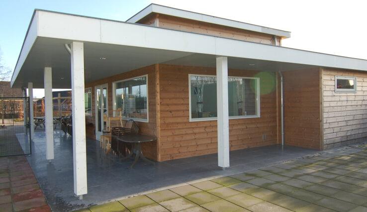 Olympa Houtbouw - Voorbeelden houten clubgebouw 2