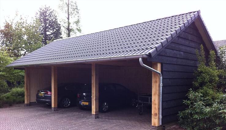 Olympa Houtbouw - Voorbeelden houten garage 1
