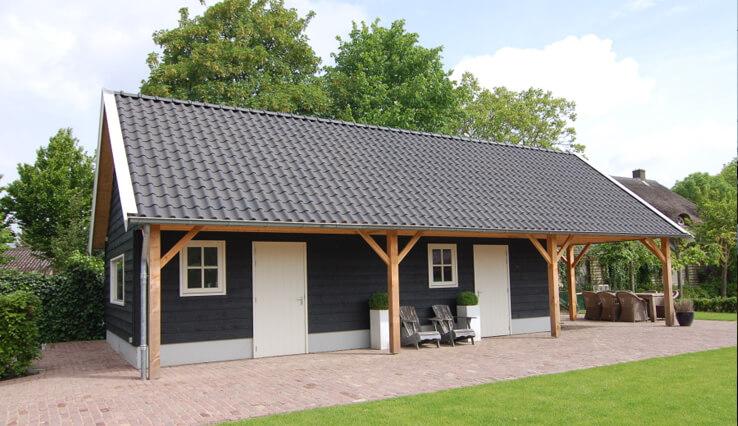 Olympa Houtbouw - Voorbeelden houten schuur 3
