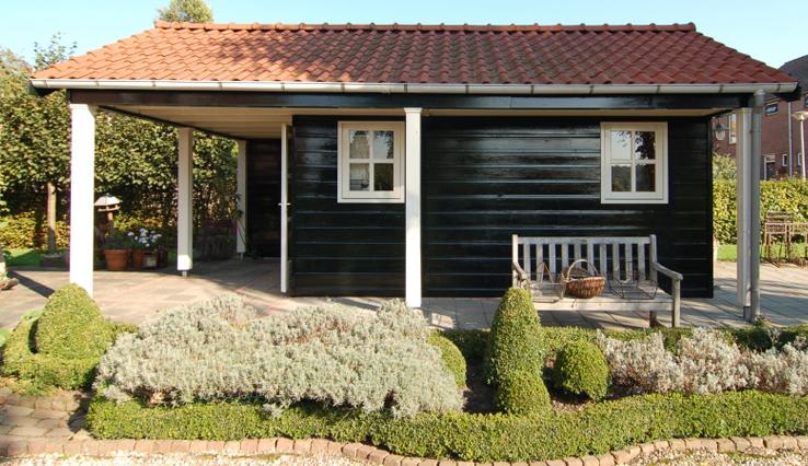 Olympa Houtbouw - Voorbeelden houten tuinhuis 2