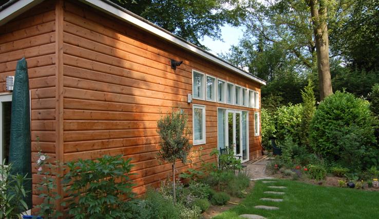 Olympa Houtbouw - Voorbeelden houten tuinhuis 4