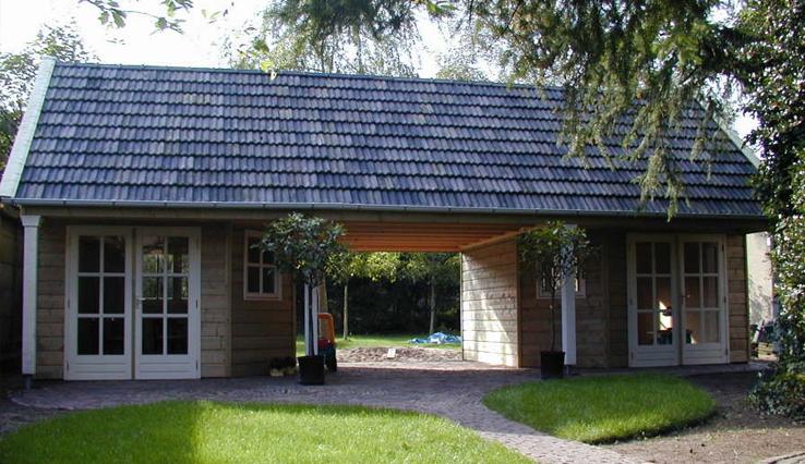 Olympa Houtbouw - Voorbeelden houten tuinhuis 5